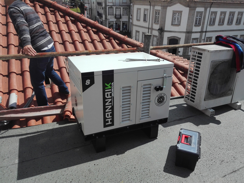 HANNAIK installed an 8 kVA generator at Sabores do Lima restaurant