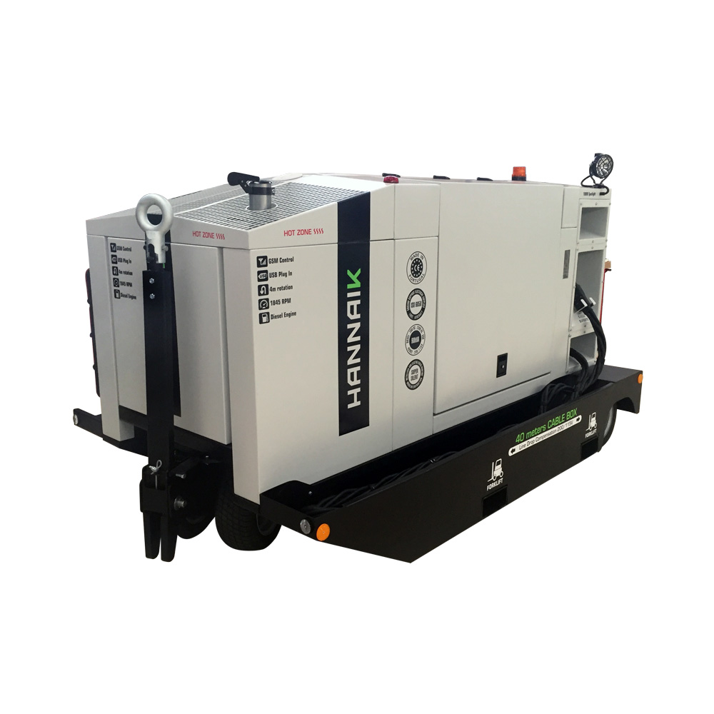 Ground Power Unit ou GPU são geradores de energia de maior complexidade, destinados aos setores: naval, ferroviário e aeronáutico. Estes equipamentos apresentam potências entre os 5kVA e os 180kVA, permitem saídas de correntes contínua (DC) e alternada (AC), baixa rotação do motor 1845rpm e dupla saída monofásica (230v/5OHz) AC.