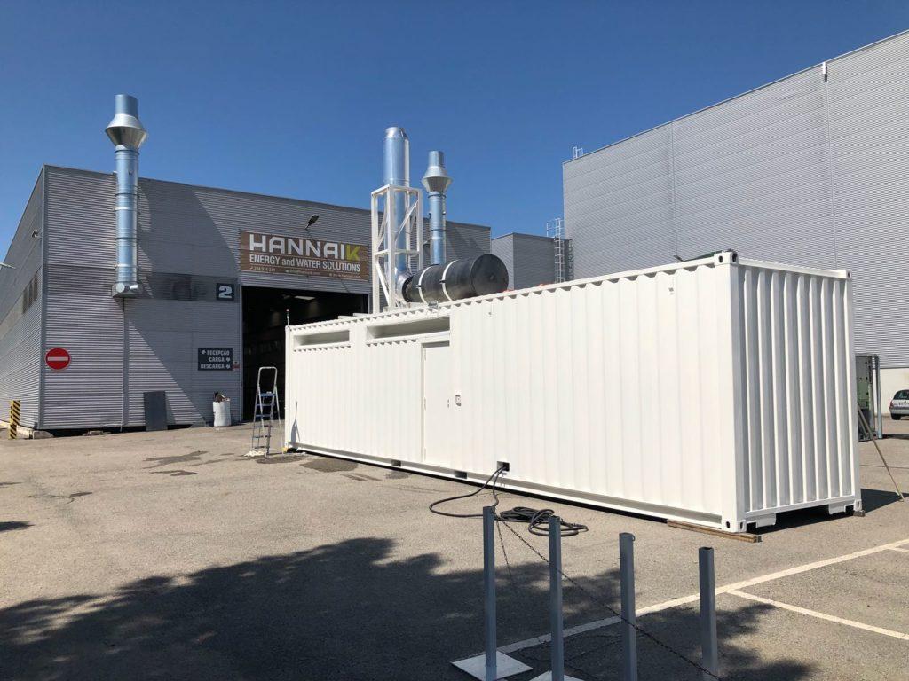 A HANNAIK desenvolveu uma Central de Produção de Energia de 3MVA