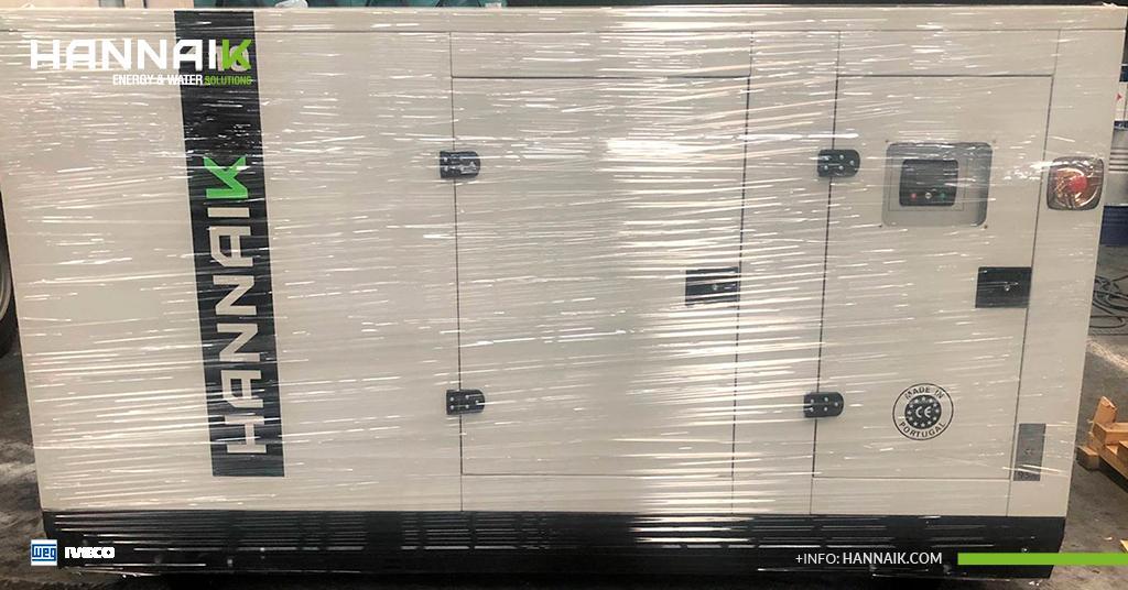 HANNAIK abastece a Lauak Portugal com um gerador super silencioso de 110kVA