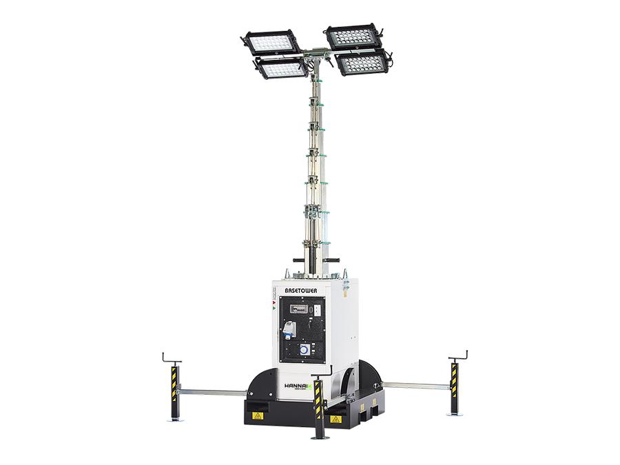 Torre de iluminação sem motor Basetower